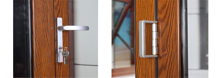Lowes Tinted Glass Interior Outdoor Sliding Aluminum Glass Soundproof Bi Folding Louver Doors