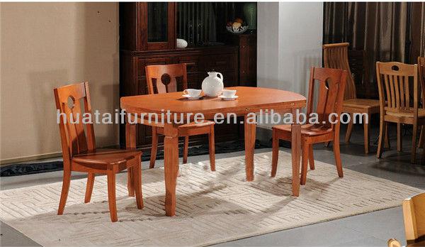 Plegable mesa de madera maciza y sillas de madera barata for Conjuntos mesas y sillas de cocina baratas