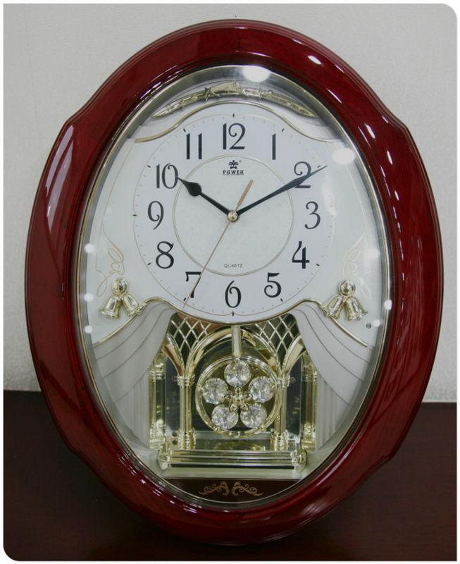 Decorative Wall Clock Model : Pendulum wall clock gear wooden