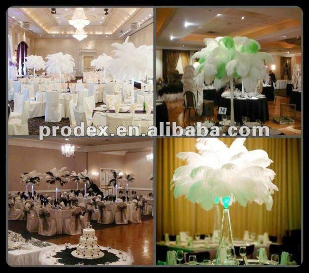 Popular hot pink ostrich feather centerpiece for wedding