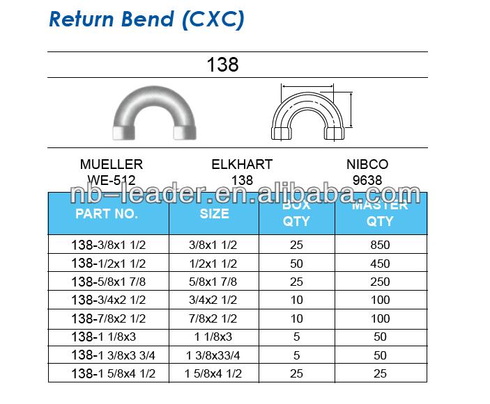 Return Bend Cxc 180 Degree Return Bend Copper Return