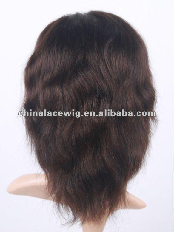 Doubleleafwig 5 inches super short human hair boys hair