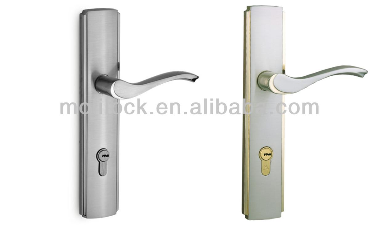 Aluminium wood top hung and sliding door lock handle for Sliding door for main door