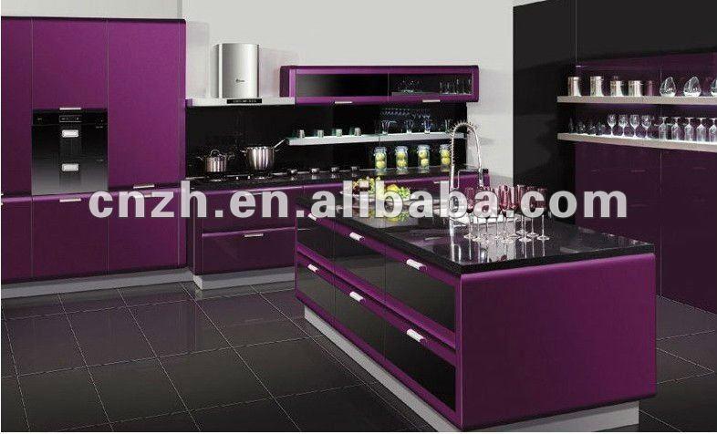 Kitchen cabinet modular kitchen furniture high glossy for Acrylic sheet for kitchen cabinets
