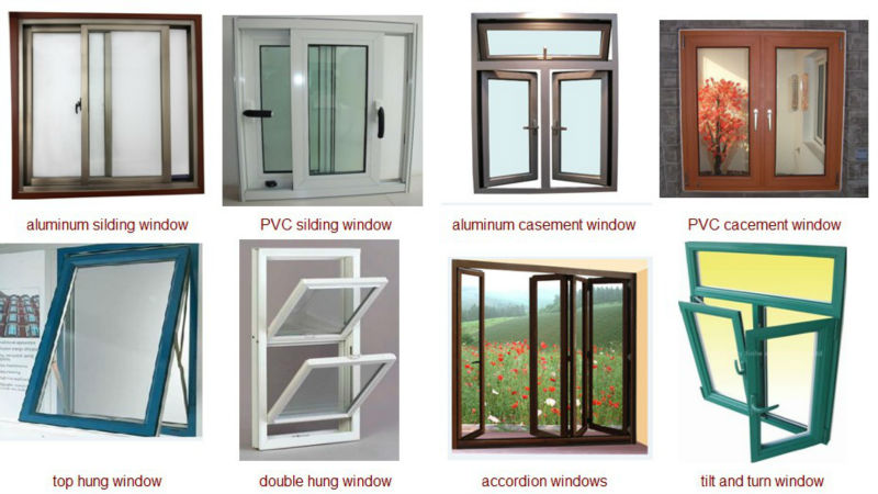 Upvcpvc Aluminum Windows With Built in Blinds Double