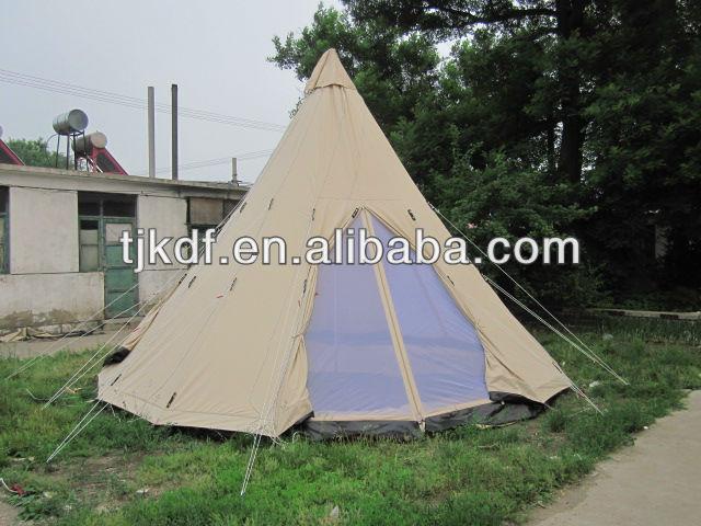 Double door Indian tepee tent canvas tipi tent & Double door Indian tepee tent canvas tipi tent View teepee tent ...