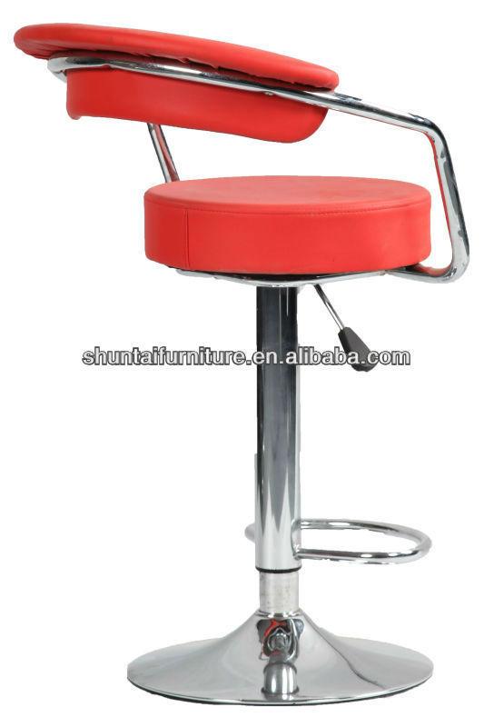 Colorful Leather Orbicular Seat Cushion Swivel Bar Stools