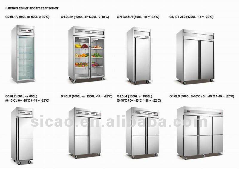 500l acciaio inossidabile montante verticale frigorifero doppia porta di raffreddamento freezer - Temperatura freezer casa ...