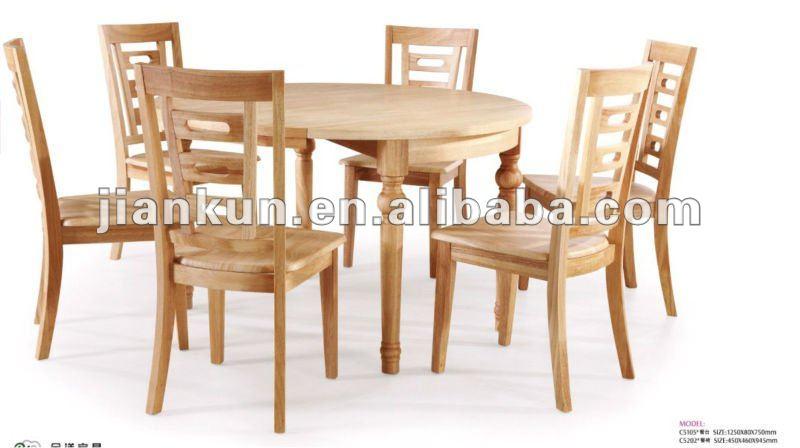 C5103 zhongge roble muebles de madera mesa de comedor - Muebles de tailandia ...