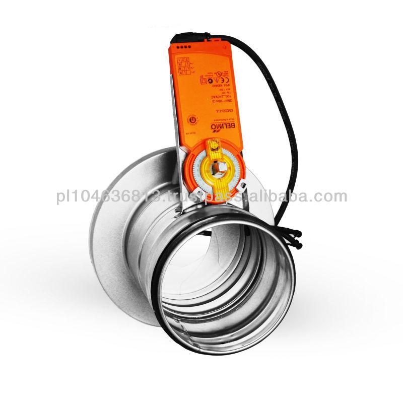 Iris damper buy hvac dampers fire damper circular damper for Motorized fire smoke damper installation