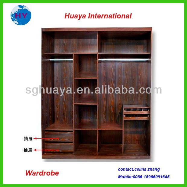 Wooden wordrobe clothes cabinet buy bedroom wardrobe for Cloth cabinet design