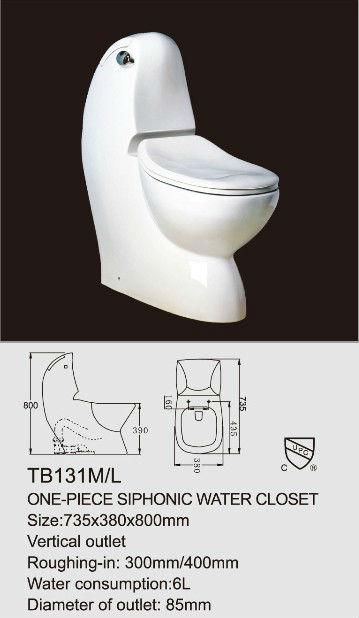 EAGO Ceramic One Piece Soft Closing Seat Cover Toilet Bowl TB131 View Toilet