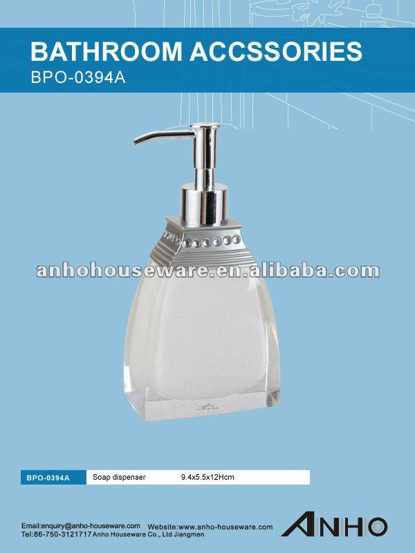5pcs polyresin bathroom set pyramid series view luxury for Bathroom 9x7
