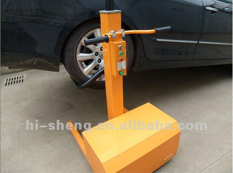 Single Hydraulic Automotive Lifts : Hydraulic mobile single post car lift