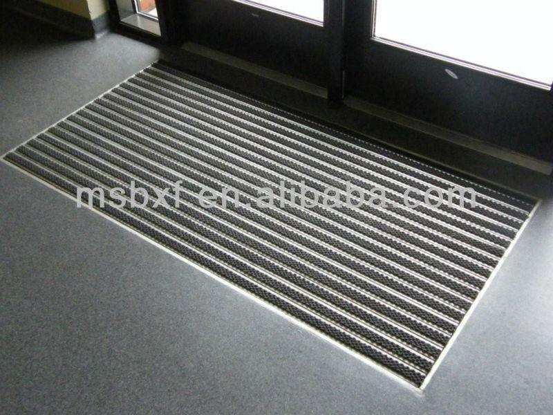 Aluminium Entrance Mats With Carpet Inserted Entrance Door