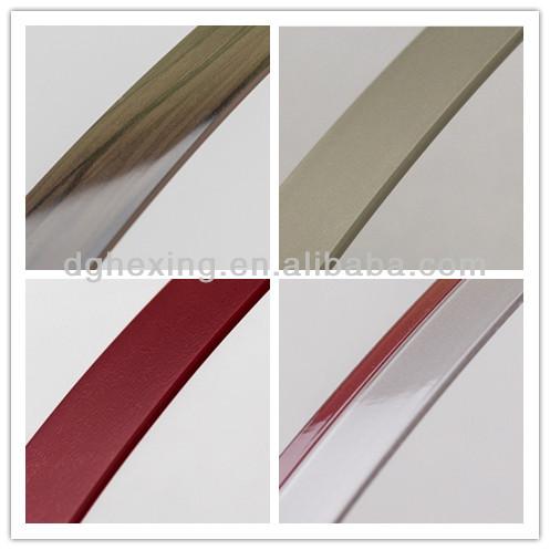 Pvc t profile t molding profile t edge banding u edge for Furniture t trim edging