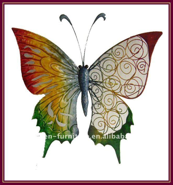 garden outdoor art decorative metal butterfly wrought iron ...