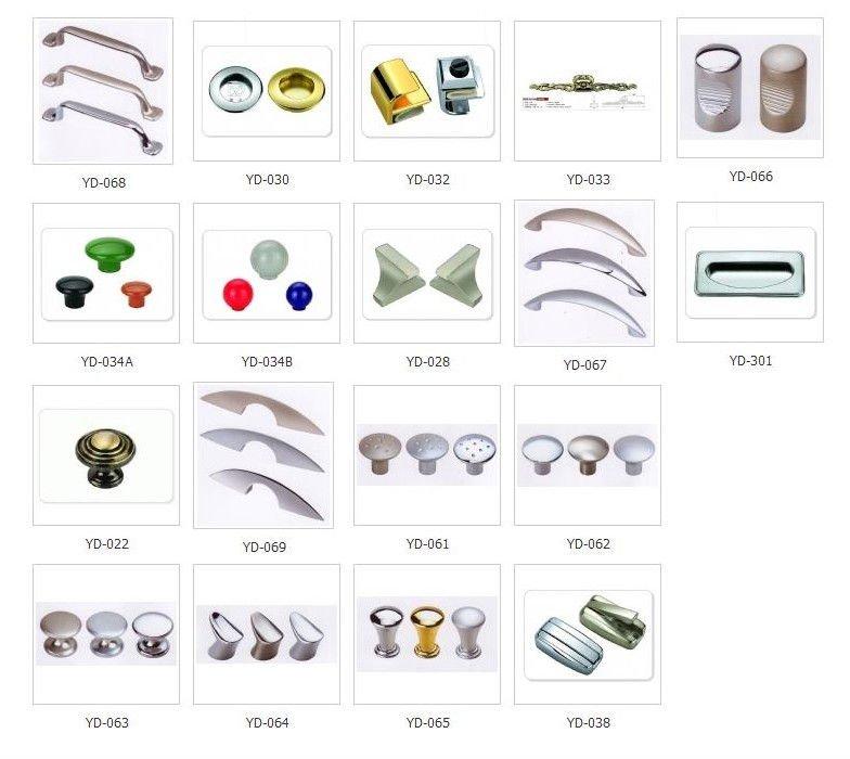 Different Types Zinc Alloy Plastic Furniture Door Handles