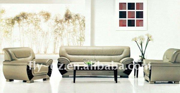 Nice Leather Sofa Office Furniture Modern Home Center Sofa