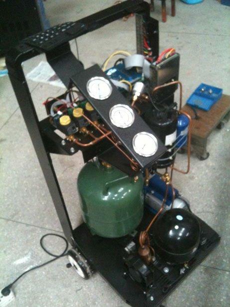 auto ac recharge machine