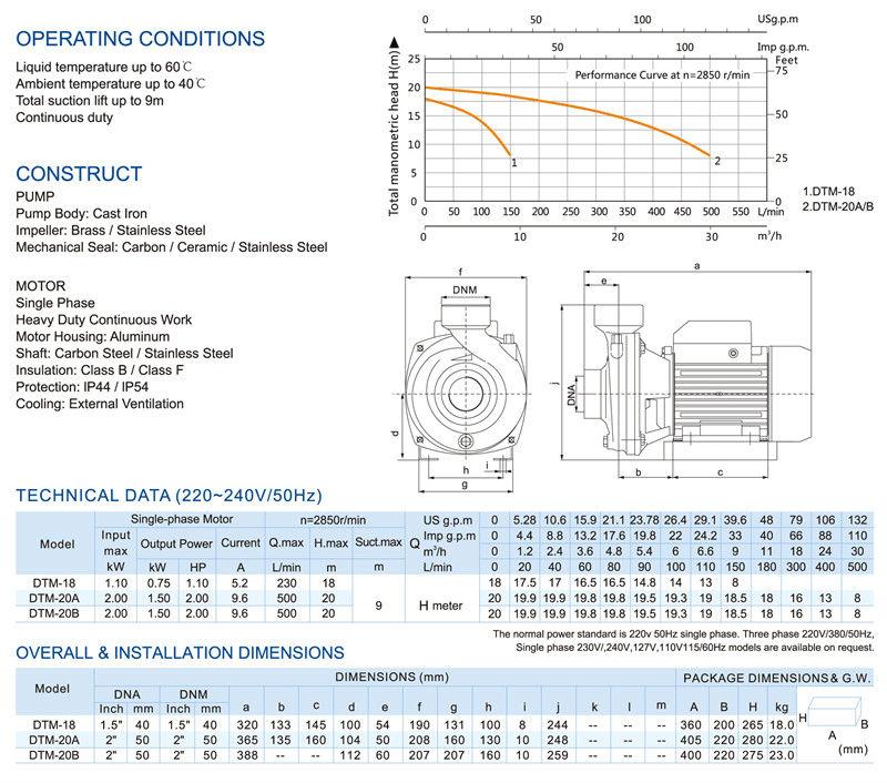 1 Elestar Dtm Series Centrifugal Pumps View Pumps Elestar Product Details From Fujian Elestar