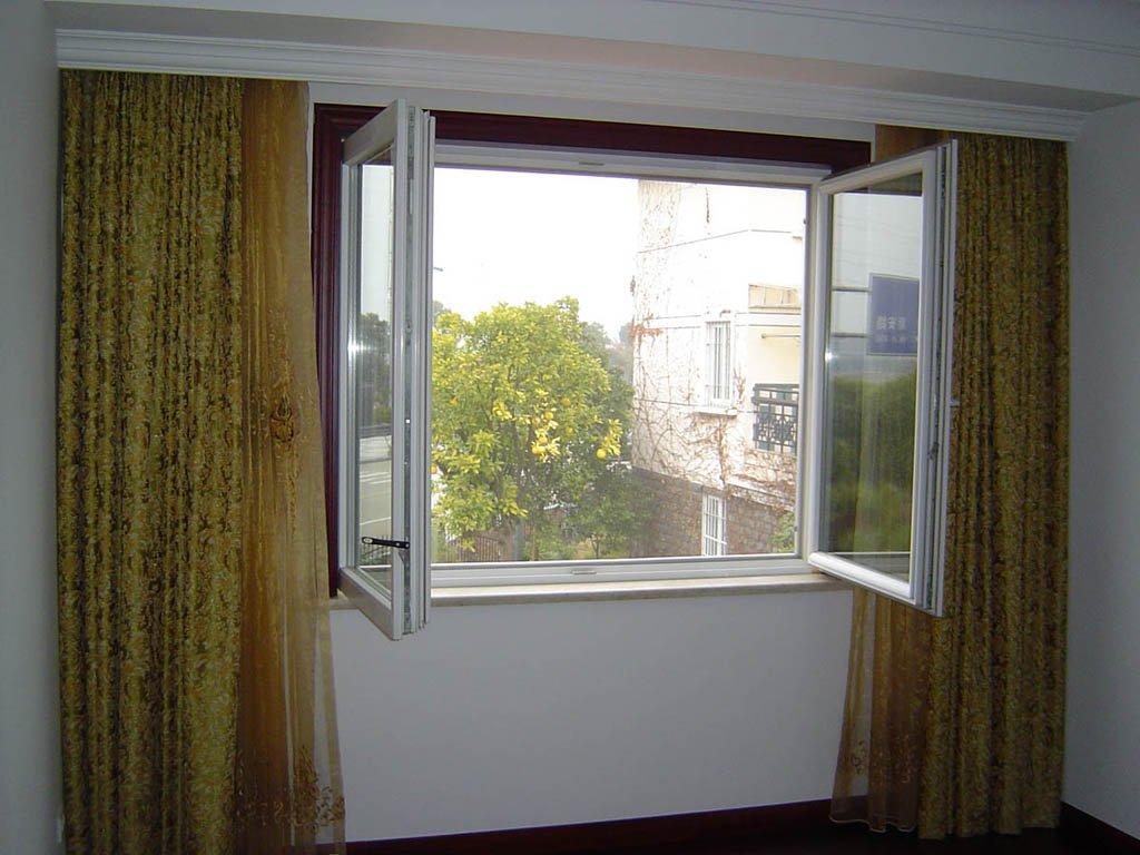 White Color Vinyl Casement Window With Tint Color Glass