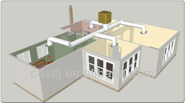 Industrial Cooling Duct : Industrial ventilation cooling system for workshop