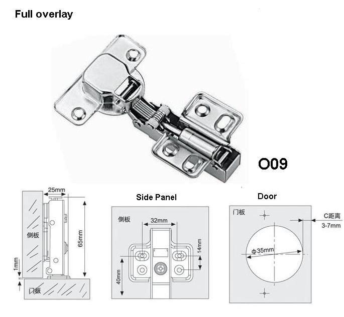 Blum Cabinet Hinges/ Hydraulic Buffer Hinge O07/o08/o09 ...