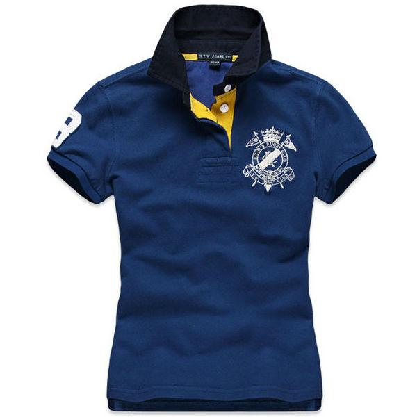 Polo shirt factory women embroidery cotton wholesale