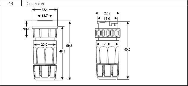 m19 3 pins ip67 butt joint assembling waterproof connector  view waterproof connector  llt