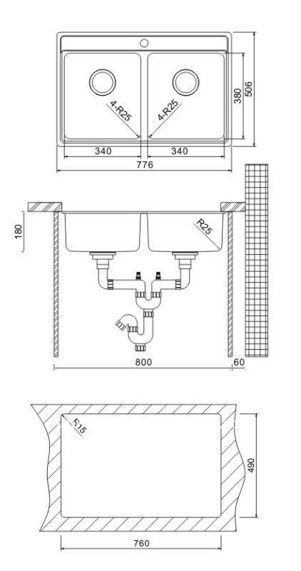 oulin kitchen sink undermount sink clips ol0326