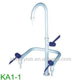 Deck Mounted Single way laboratory water faucets