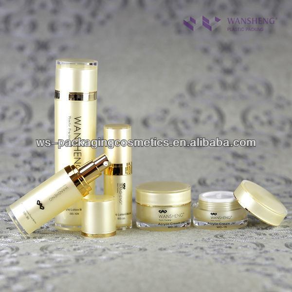 Airless Serum Bottle Round Shape Cosmetic Plastic Bottles