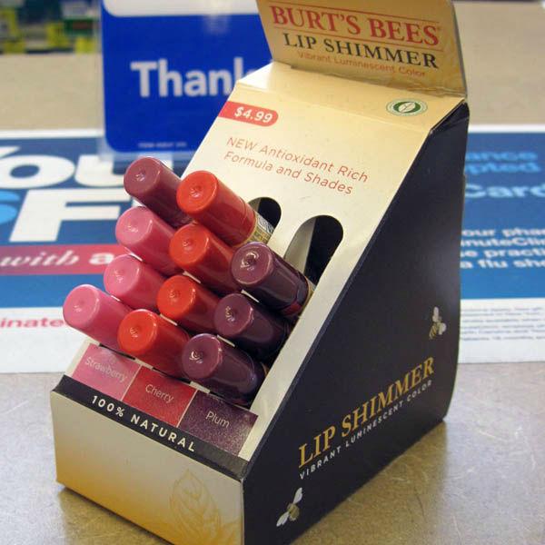 Lip Balm Display Dispensers Cardboard Counter Display Box