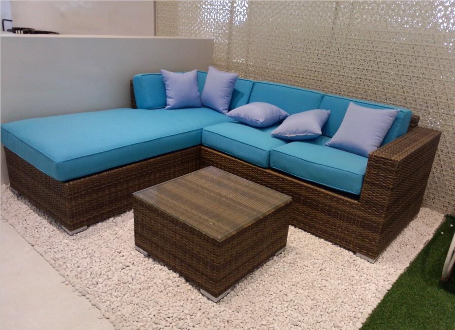 2014 modern wicker garden sofa rattan outdoor furniture - Rattan Garden Furniture L Shape
