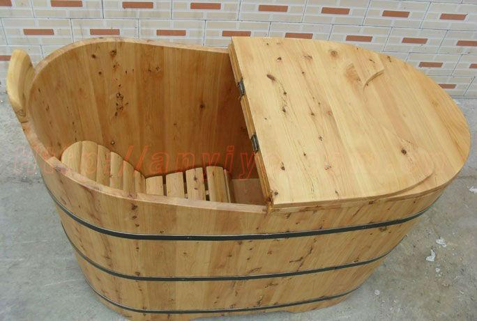 indoor oval cedar wooden bathtub soaking wooden barrel