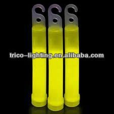 15 inch glow stick for party Glow stick foil wrapped