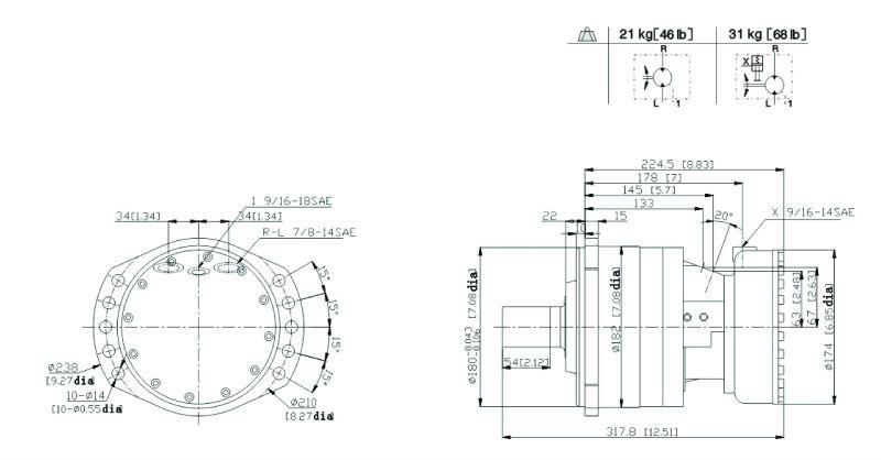 Rexroth Mcr03 Mcr5 Piston Hydraulic Motors View Rexroth