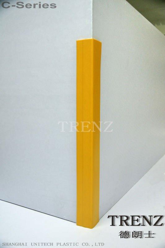 Corner Pvc Protcror : Plastic wall corner protectors hospital pvc