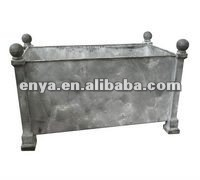Metal Versaille Planter, French Garden Flower Pot