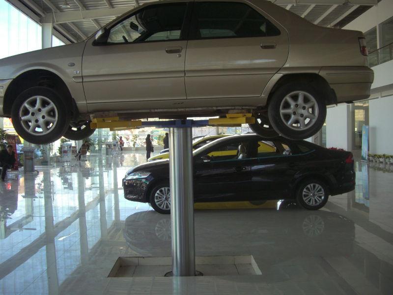 Hydraulic Car Lift : Pneumatic hydraulic single post car lift in ground t