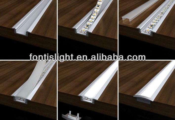 Led Aluminum Profiles/ Profiles For Led Strip Light/aluminum Profile For  Kitchen Cabinet