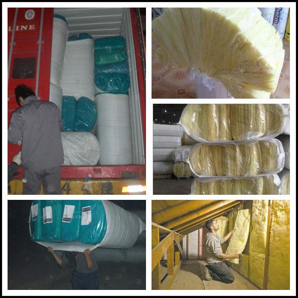 Building Fireproof And Sound Insulation Glass Wool Batt