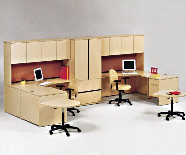 modern melamine office workstation combination