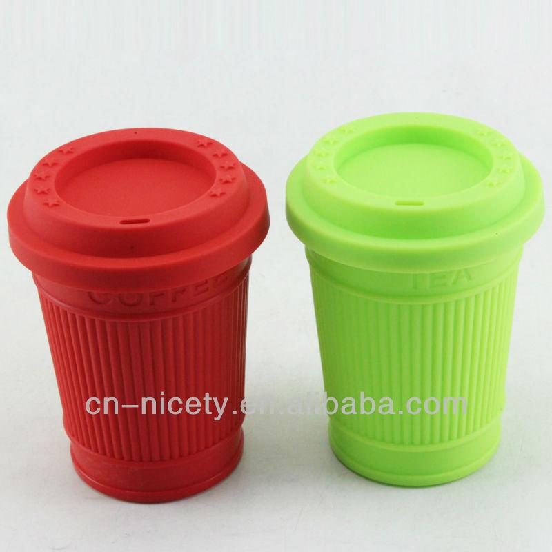 Wholesale 380ml Portable Bpa Free Silicone Travel Coffee