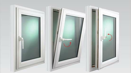 Two Way Opening Tilt And Turn Pvc Window View Window Mq