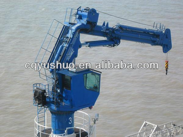 Telescopic Deck Cranes : Hydraulic knuckle telescopic boom marine crane view deck