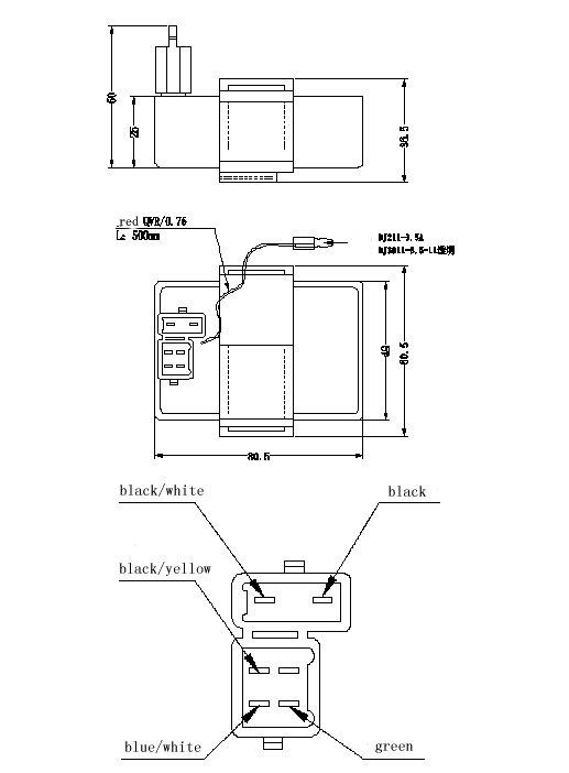 cabeza cuadrada universal unidad de cdi de la motocicleta