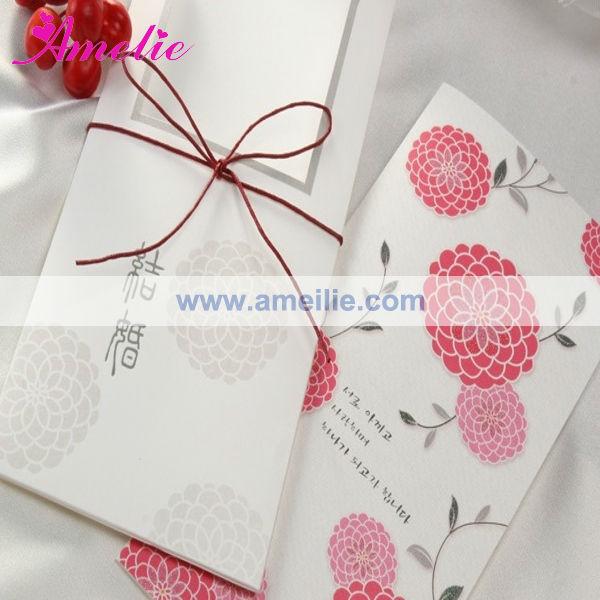 A0448 wholesale ribbon flower korean wedding invitation card view a0448 wholesale ribbon flower korean wedding invitation card stopboris Gallery
