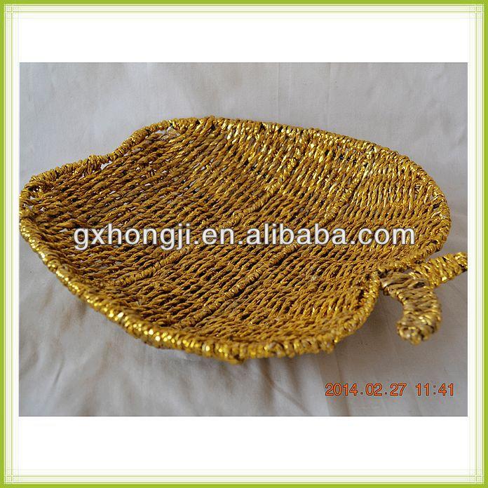 Basket Weaving Name : Apple shaped basket paper weaving wedding candy